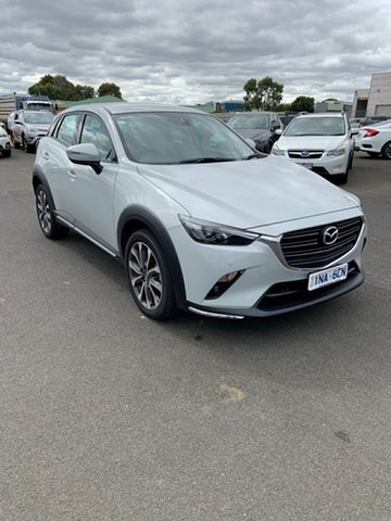 Used Mazda CX-3 DK2W7A sTouring SKYACTIV-Drive FWD Warrnambool East, 2019 Mazda CX-3 DK2W7A sTouring SKYACTIV-Drive FWD White 6 Speed Sports Automatic Wagon