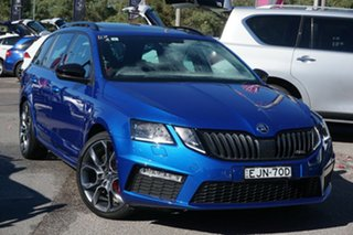 2019 Skoda Octavia NE MY20 RS DSG 245 Blue 7 Speed Sports Automatic Dual Clutch Wagon.