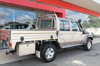 2017 Toyota Landcruiser VDJ79R GXL Double Cab Gold 5 Speed Manual Cab Chassis