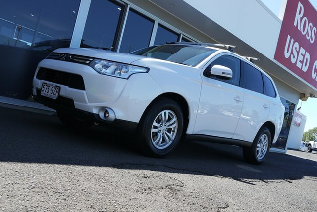Used Mitsubishi Outlander ZJ MY13 LS 2WD Bundaberg, 2013 Mitsubishi Outlander ZJ MY13 LS 2WD Silver 6 Speed Constant Variable Wagon