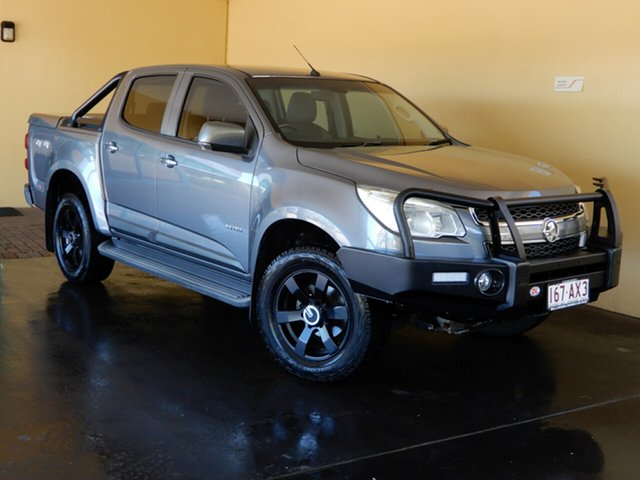 Used Holden Colorado RG LX (4x4) Toowoomba, 2013 Holden Colorado RG LX (4x4) Grey 5 Speed Manual Crew Cab Chassis