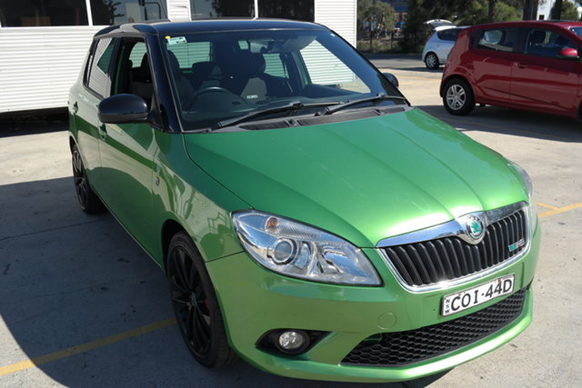Used Skoda Fabia 5JF MY13 RS DSG 132TSI Maryville, 2013 Skoda Fabia 5JF MY13 RS DSG 132TSI Green 7 Speed Sports Automatic Dual Clutch Hatchback