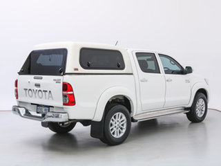 2014 Toyota Hilux KUN26R MY12 SR5 (4x4) White 5 Speed Manual Dual Cab Pick-up