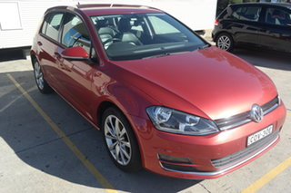 2013 Volkswagen Golf VII 103TSI DSG Highline Red 7 Speed Sports Automatic Dual Clutch Hatchback.