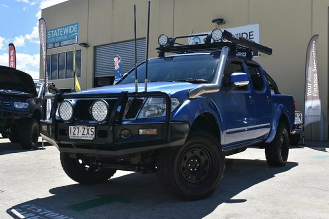 Used Nissan Navara D40 Series 4 ST-X (4x4) Capalaba, 2012 Nissan Navara D40 Series 4 ST-X (4x4) Blue 6 Speed Manual Dual Cab Pick-up