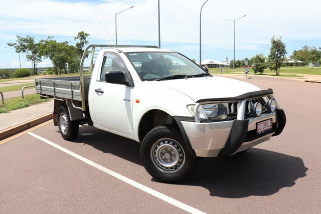 Pre-Owned Mitsubishi Triton ML MY07 GL 4x2 Palmerston, 2007 Mitsubishi Triton ML MY07 GL 4x2 White 5 Speed Manual Cab Chassis