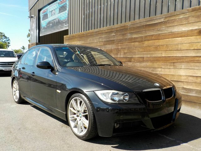 Used BMW 3 Series E90 320d Steptronic Executive Labrador, 2006 BMW 3 Series E90 320d Steptronic Executive Black 6 Speed Sports Automatic Sedan