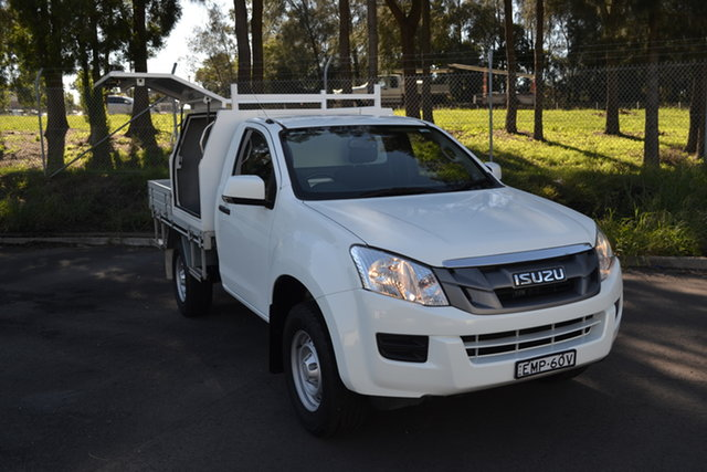 Used Isuzu D-MAX MY15 SX 4x2 High Ride Maitland, 2016 Isuzu D-MAX MY15 SX 4x2 High Ride White 5 Speed Sports Automatic Cab Chassis