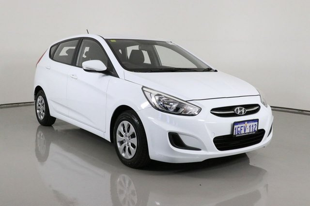 Used Hyundai Accent RB4 MY17 Active Bentley, 2017 Hyundai Accent RB4 MY17 Active White 6 Speed CVT Auto Sequential Hatchback