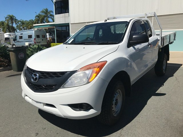 Used Mazda BT-50 UP0YF1 XT Freestyle 4x2 Hi-Rider Acacia Ridge, 2015 Mazda BT-50 UP0YF1 XT Freestyle 4x2 Hi-Rider White 6 speed Manual Cab Chassis
