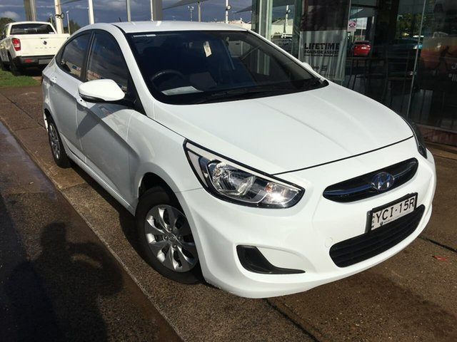 Used Hyundai Accent RB2 Active Dubbo, 2015 Hyundai Accent RB2 Active White 4 Speed Sports Automatic Sedan
