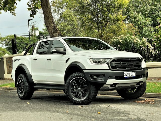Used Ford Ranger PX MkIII 2019.75MY Raptor Hyde Park, 2019 Ford Ranger PX MkIII 2019.75MY Raptor Arctic White 10 Speed Sports Automatic Double Cab Pick Up