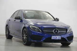 2017 Mercedes-Benz C-Class W205 807+057MY C200 9G-Tronic Blue 9 Speed Sports Automatic Sedan