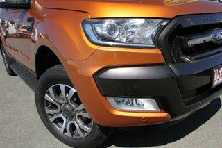 2017 Ford Ranger PX MkII Wildtrak Double Cab Pride Orange 6 Speed Manual Utility.