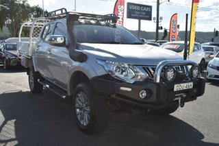 2016 Mitsubishi Triton MQ MY16 GLS Double Cab Silver 6 Speed Manual Utility.