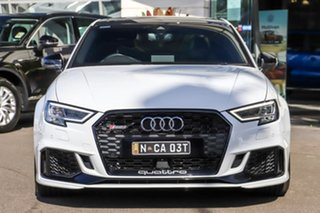 2018 Audi RS 3 8V MY18 S Tronic Quattro White 7 Speed Sports Automatic Dual Clutch Sedan.