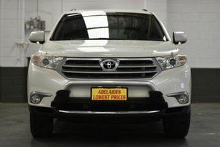 2013 Toyota Kluger GSU45R MY12 KX-S AWD White 5 Speed Sports Automatic Wagon.