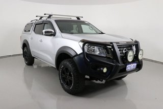 2016 Nissan Navara NP300 D23 RX (4x4) Silver 6 Speed Manual Double Cab Utility.