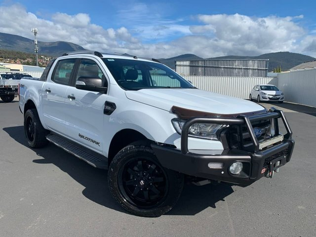 Used Ford Ranger PX MkII Wildtrak Double Cab Moonah, 2016 Ford Ranger PX MkII Wildtrak Double Cab White 6 Speed Sports Automatic Utility