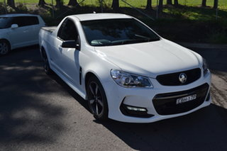 2016 Holden Ute VF II MY16 SV6 Ute Black White 6 Speed Sports Automatic Utility.