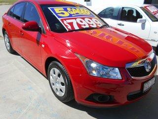 2012 Holden Cruze JH Series II MY12 CD Red 5 Speed Manual Sedan.