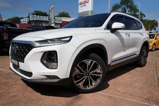 2019 Hyundai Santa Fe TM.2 MY20 Highlander CRDi Burg (AWD) White 8 Speed Automatic Wagon.