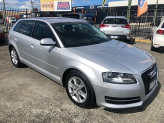 2011 Audi A3 8P MY11 TFSI Sportback S Tronic Attraction Silver 7 Speed Sports Automatic Dual Clutch.