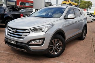 2013 Hyundai Santa Fe DM Active (4x4) Silver 6 Speed Automatic Wagon.
