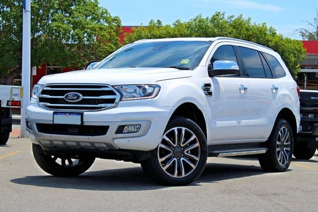 Used Ford Everest UA II 2019.00MY Titanium Midland, 2018 Ford Everest UA II 2019.00MY Titanium White 10 Speed Sports Automatic SUV