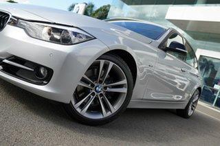 2014 BMW 328i F30 MY14 Upgrade Sport Line Glacier Silver 8 Speed Automatic Sedan.