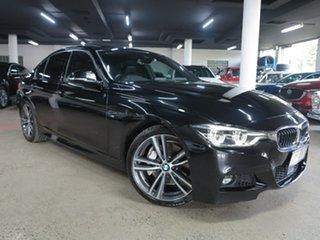 2015 BMW 3 Series F30 LCI 340i M Sport Black 8 Speed Sports Automatic Sedan.