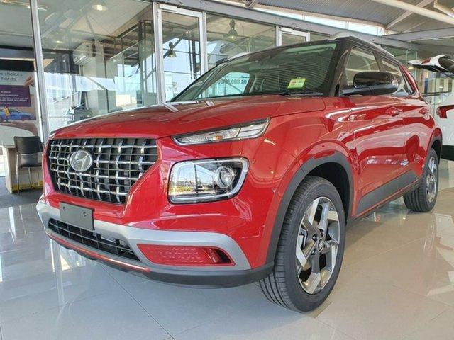 New Hyundai Venue QX.V3 MY21 Elite Springwood, 2021 Hyundai Venue QX.V3 MY21 Elite Fiery Red 6 Speed Automatic Wagon
