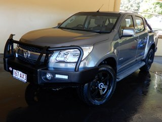 2013 Holden Colorado RG LX (4x4) Grey 5 Speed Manual Crew Cab Chassis