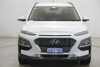 2019 Hyundai Kona OS.2 MY19 Highlander D-CT AWD White 7 Speed Sports Automatic Dual Clutch Wagon.