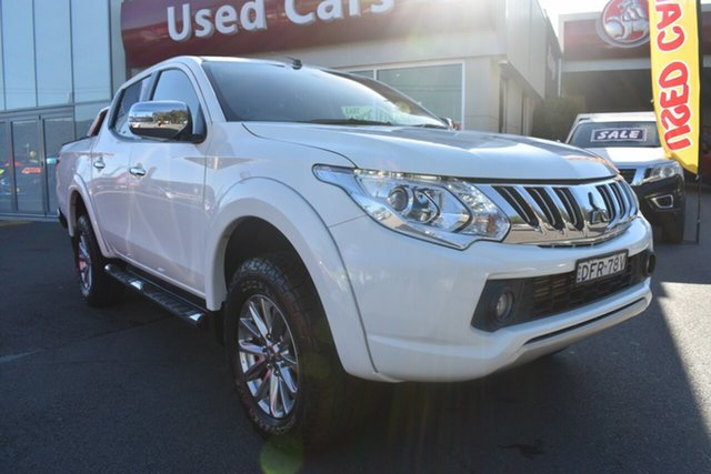 Used Mitsubishi Triton MQ MY16 GLS Double Cab Gosford, 2016 Mitsubishi Triton MQ MY16 GLS Double Cab White 6 Speed Manual Utility