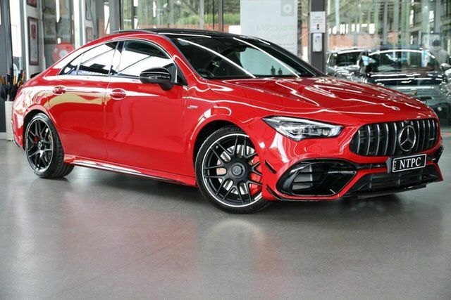 Used Mercedes-Benz CLA-Class C118 800+050MY CLA45 AMG SPEEDSHIFT DCT 4MATIC+ S North Melbourne, 2020 Mercedes-Benz CLA-Class C118 800+050MY CLA45 AMG SPEEDSHIFT DCT 4MATIC+ S Red 8 Speed