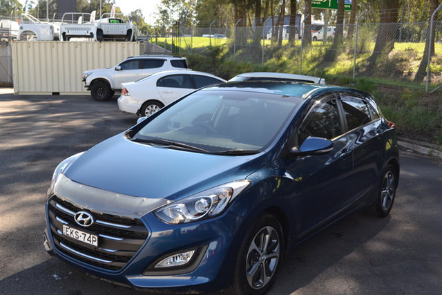 Used Hyundai i30 GD4 Series II MY16 Active X Maitland, 2015 Hyundai i30 GD4 Series II MY16 Active X Blue 6 Speed Sports Automatic Hatchback