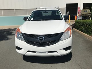 2015 Mazda BT-50 UP0YF1 XT Freestyle 4x2 Hi-Rider White 6 speed Manual Cab Chassis.