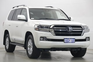 2020 Toyota Landcruiser VDJ200R Sahara Horizon White 6 Speed Sports Automatic Wagon