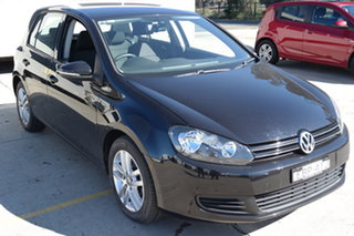2008 Volkswagen Golf V MY08 Comfortline DSG Black 6 Speed Sports Automatic Dual Clutch Hatchback.