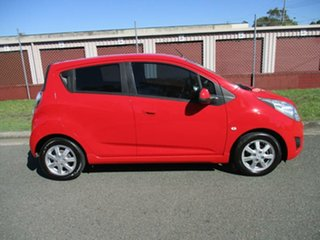 2012 Holden Barina Spark MJ MY12 CD Red 5 Speed Manual Hatchback.