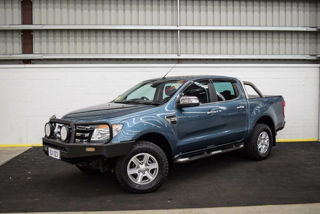 Used Ford Ranger PX XLT Double Cab Canning Vale, 2013 Ford Ranger PX XLT Double Cab Blue 6 Speed Sports Automatic Utility