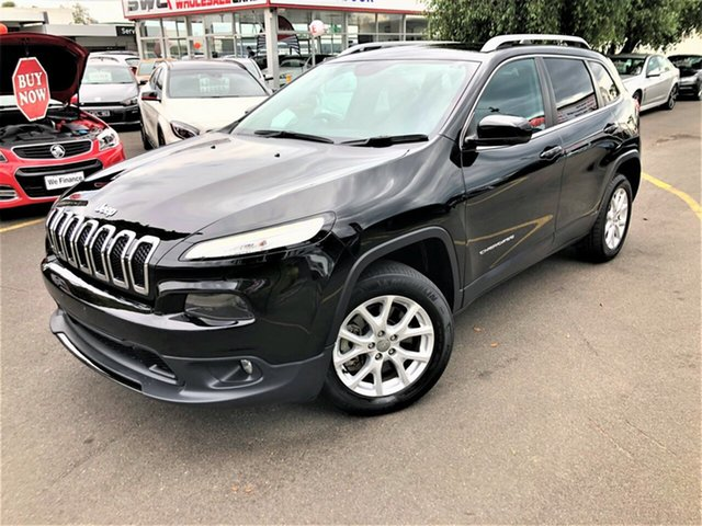 Used Jeep Cherokee KL MY17 Longitude Seaford, 2017 Jeep Cherokee KL MY17 Longitude Black 9 Speed Sports Automatic Wagon