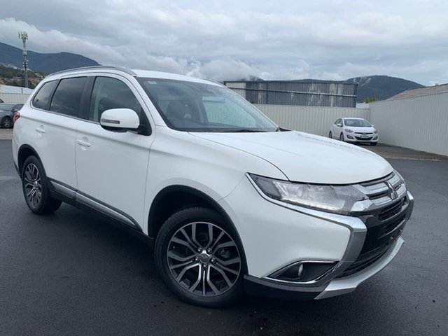 Used Mitsubishi Outlander ZK MY18 LS AWD Safety Pack Moonah, 2017 Mitsubishi Outlander ZK MY18 LS AWD Safety Pack White 6 Speed Constant Variable Wagon