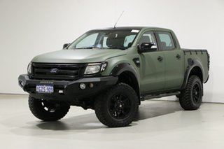2014 Ford Ranger PX XLT 3.2 (4x4) Green 6 Speed Automatic Double Cab Pick Up.