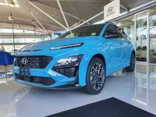 2020 Hyundai Kona Os.v4 MY21 N-Line D-CT AWD Dive in Jeju 7 Speed Sports Automatic Dual Clutch Wagon