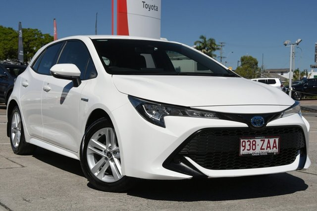 Pre-Owned Toyota Corolla ZWE211R Ascent Sport E-CVT Hybrid Albion, 2019 Toyota Corolla ZWE211R Ascent Sport E-CVT Hybrid Glacier White 10 Speed Constant Variable