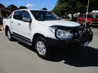 2013 Holden Colorado RG Crewcab LTZ White 5 Speed Manual Dual Cab.