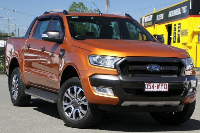 Used Ford Ranger PX MkII Wildtrak Double Cab Rocklea, 2017 Ford Ranger PX MkII Wildtrak Double Cab Pride Orange 6 Speed Manual Utility
