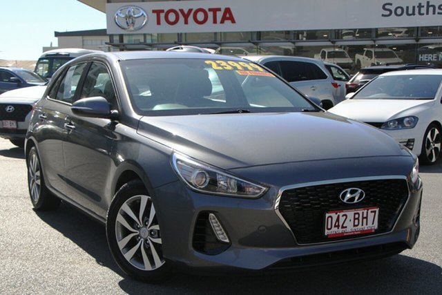 Pre-Owned Hyundai i30 PD2 MY18 Active Upper Mount Gravatt, 2018 Hyundai i30 PD2 MY18 Active Iron Gray 6 Speed Sports Automatic Hatchback